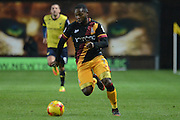 Bradford City midfielder Mark Marshall (7) on the attack 0-0 during the EFL Trophy match between Oxford United and Bradford City at the Kassam Stadium, Oxford, England on 31 January 2017. Photo by Alan Franklin.