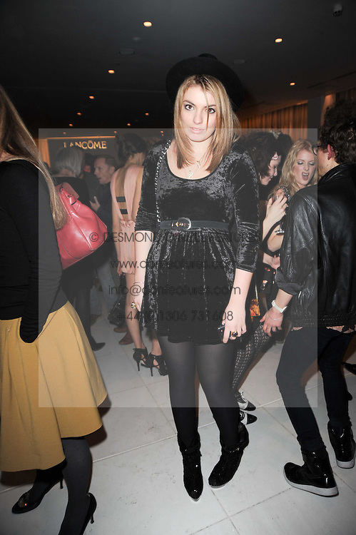LOLA LENNOX at a party to celebrate Lancome's 10th anniversary of sponsorship of the BAFTA's in association with Harper's Bazaar magazine held at St.Martin's Lane Hotel, London on 19th February 2010.