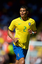 LIVERPOOL, ENGLAND - Sunday, June 3, 2018: Brazil's Thiago Silva during an international friendly between Brazil and Croatia at Anfield. (Pic by David Rawcliffe/Propaganda)