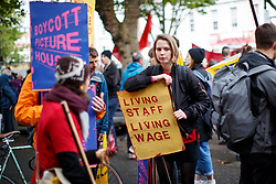 © Licensed to London News Pictures. 01/05/2017. London, UK. Workers and activists take part at a May Day march to Trafalgar Square on May 1, 2017. Photo credit: Tolga Akmen/LNP