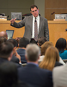 Houston ISD superintendent Dr. Terry Grier addresses a school leadership meeting, October 2, 2013.