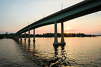 The Route 450 Bridge, traverses the Severn River near Annapolis, Maryland.