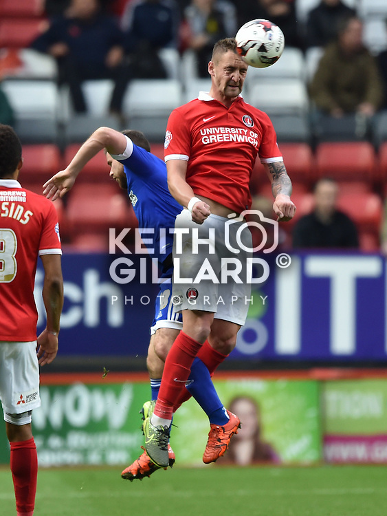 Charlton v Brentford, SkyBet Championship,  24, October, 2015,   <br /> at The Valley.  <br /> <br /> MANDATORY CREDIT: Keith Gillard