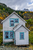Old abandoned house in ghost town of Red Mountain, CO