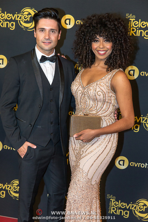NLD/Amsterdam/20191009 - Uitreiking Gouden Televizier Ring Gala 2019, Fenna Ramos en ......