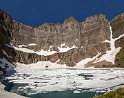 MT00122-00...MONTANA - Iceberg Lake in Glacier National Park.