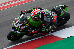 July 8, 2018 - Misano, RN, Italy - Jonathan Rea of Kawasaki Racing Team during race 2 of the Motul FIM Superbike Championship, Riviera di Rimini Round, at Misano World Circuit ''Marco Simoncelli'', on July 08, 2018 in Misano, Italy  (Credit Image: © Danilo Di Giovanni/NurPhoto via ZUMA Press)