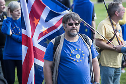© Licensed to London News Pictures. 09/09/2017. London, UK. People gather for the pro EU People's March For Europe in central London. Speakers including Sir Bob Geldof, Sir Ed Davey and Liberal Democrat leader Vince Cable will address a rally in Parliament Square. Photo credit: Peter Macdiarmid/LNP