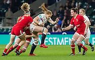 Harriet Millar-Mills in action, England Women v Canada Women in an Old Mutual Wealth Series, Autumn International match at Twickenham Stadium, London, England, on 26th November 2016. Full time score 39-6
