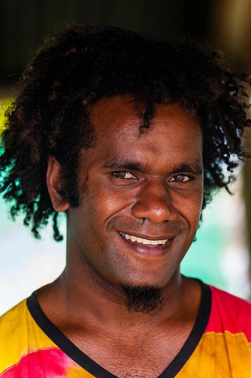 Kanak man, Tadine, Island of Mare, Loyalty Islands, New Caledonia