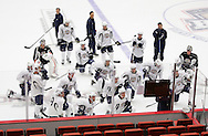 October 4, 2012: The Oklahoma City Barons hold day five of their 2012-13 American Hockey League training camp at the Cox Convention Center in Oklahoma City.