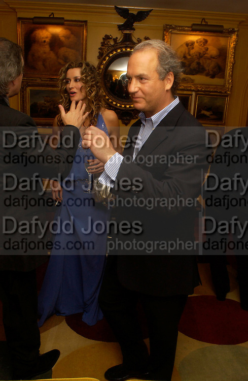 Natasha McElhone and Charles Finch. Artists Independent Networks  Pre-BAFTA Party at Annabel's co hosted by Charles Finch and Chanel. Berkeley Sq. London. 11 February 2005. . ONE TIME USE ONLY - DO NOT ARCHIVE  © Copyright Photograph by Dafydd Jones 66 Stockwell Park Rd. London SW9 0DA Tel 020 7733 0108 www.dafjones.com