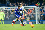 Diego Costa of Chelsea in action during the Barclays Premier League match between Chelsea and Everton at Stamford Bridge, London, England on 16 January 2016. Photo by Salvio Calabrese.
