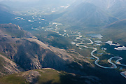 Meandering river in the Central Brooks Range, Alaska
