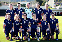 International Women's Friendly Matchs 2019 / <br /> Scotland v Iceland 1-2 ( La Manga Club - Cartagena,Spain ) - <br /> Players of Women's Schottish Team ,Prior the match ,From the left: <br /> Lucy Graham ,Zoe Ness ,Jenna Fife ,Caroline Weir ,Joelle Murray // Joanne Love ,Erin Cuthbert ,Chloe Arthur ,Jane Ross ,Frankie Fantom Brown ,Nicola Docherty