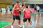 DESCRIZIONE : Cavalese Trento Raduno Collegiale Nazionale Italiana Femminile<br /> GIOCATORE : Jennifer Nadalin Raffaella Maschiadri<br /> SQUADRA : Nazionale Italia Donne <br /> EVENTO : Raduno Collegiale Nazionale Italiana Femminile <br /> GARA : <br /> DATA : 30/06/2010 <br /> CATEGORIA : Allenamento<br /> SPORT : Pallacanestro <br /> AUTORE : Agenzia Ciamillo-Castoria/M.Gregolin<br /> Galleria : Fip Nazionali 2010 <br /> Fotonotizia : Cavalese Trento Raduno Collegiale Nazionale Italiana Femminile<br /> Predefinita :