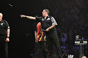 Gary Anderson  during the Betway Premier League Darts at the Manchester Arena, Manchester, United Kingdom on 23 March 2017. Photo by Mark Pollitt.