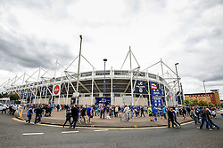 Fans arrive at the stadium before the match - Photo mandatory by-line: Rogan Thomson/JMP - Mobile: 07966 386802 16/08/2014 - SPORT - FOOTBALL - Leicester - King Power Stadium - Leicester City v Everton - Barclays Premier League
