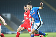 Jordan Williams  during the EFL Sky Bet League 1 match between Rochdale and Walsall at Spotland, Rochdale, England on 23 December 2017. Photo by Daniel Youngs.