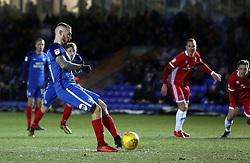 Marcus Maddison of Peterborough United has a penalty saved - Mandatory by-line: Joe Dent/JMP - 27/02/2018 - FOOTBALL - ABAX Stadium - Peterborough, England - Peterborough United v Walsall - Sky Bet League One
