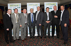 LIVERPOOL, ENGLAND - Friday, May 7, 2010: L-R: John Bailey, Ian Muir, Ronnie Goodlass, Dave Hickson, Joe Parkinson, Barry Horne, Billy Ashcroft and Derek Mountfield during an Everton Charity Dinner to support Health Through Sport. (Pic by: David Rawcliffe/Propaganda)
