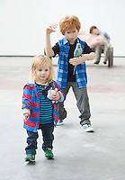 12/07/2015 repro free.  Jude McEllistrim  20 months at The Galway International Arts Festival, Patricia Piccinini's   exhibition &quot;Relativity&quot; at the Prints works Galway. The exhibition will run at the gallery for the duration of the Galway International Arts Festival from July 13-26.  <br /> Photo:Andrew Downes:XPOSURE  <br /> Patricia is one of Australia's most acclaimed artists.
