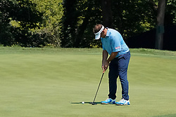 August 10, 2018 - St. Louis, Missouri, United States - Matthew Wallace putts the 9th green during the second round of the 100th PGA Championship at Bellerive Country Club. (Credit Image: © Debby Wong via ZUMA Wire)