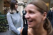 Waiting for the entrance at Jil Sander fashion show during Milan Fashion Week woman collectiions Spring Summer 2017, Milano September 24, 2016. © Carlo Cerchioli