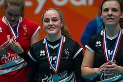 Fuerra Everaert #13 of VCN after the cup final between Sliedrecht Sport and Laudame Financials VCN on February 16, 2020 in De Maaspoort in Den Bosch.