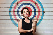 Australian singer-songwriter and lead vocals for the band Baby Animals, Suze DeMarchi, poses for a photograph in Sydney, Australia.