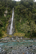 Thunder Creek Falls, Haast Pass, South Island, New Zealand