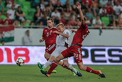 August 31, 2017 - Budapest, Hungary - Mihaly Korhut (L) of Hungary in action with Freimans Gints (R) of Latvia during the World Cup qualification match between Hungary and Latvia at Groupama Arena on Aug 31, 2017 in Budapest, Hungary. (Credit Image: © Robert Szaniszlo/NurPhoto via ZUMA Press)