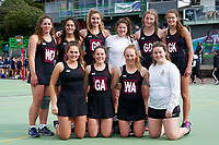 2018 NZSS Girls Netball Tournament.<br /> Vautier Park Netball Centre, Palmerston North.<br /> Woodford House