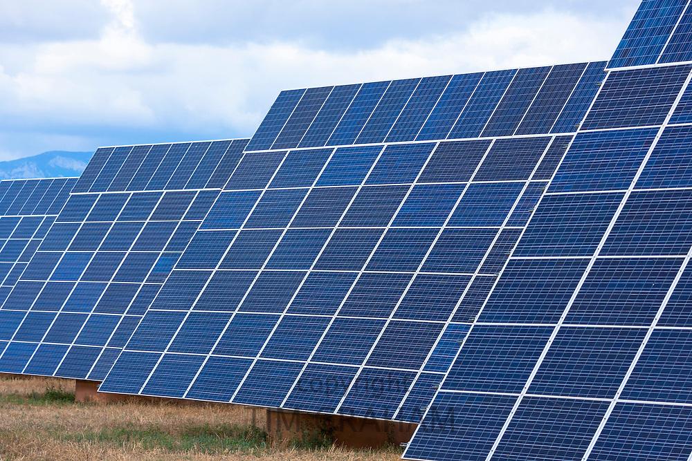 A field of solar panels in La Rioja, Northern Spain