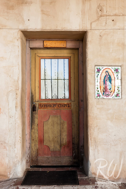 Guadalupe Chapel Door at Mission San Miguel Arcangel, San Miguel, California