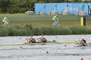 Eton Dorney, Windsor, Great Britain,..2012 London Olympic Regatta, Dorney Lake. Eton Rowing Centre, Berkshire[ Rowing]...Description;  Heat, Men's double Sculls: .Luka SPIK (b) , Iztok COP (s)..GBR M2X Bill LUCAS (b) , Sam TOWNSEND (s)...Dorney Lake. 12:30:14  Tuesday  31/07/2012.  [Mandatory Credit: Peter Spurrier/Intersport Images].Dorney Lake, Eton, Great Britain...Venue, Rowing, 2012 London Olympic Regatta...