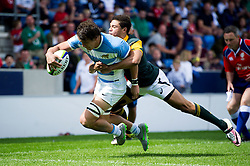 Mariano Romanini of Argentina U20 reaches for the try-line - Mandatory byline: Patrick Khachfe/JMP - 07966 386802 - 25/06/2016 - RUGBY UNION - AJ Bell Stadium - Manchester, England - Argentina U20 v South Africa U20 - World Rugby U20 Championship 2016 3rd Place Play-Off.