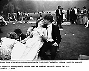 Laura Keep & Mark Foster-Brown during the Trinity Ball. Cambridge. 18 June 1984. Film 84509f12<br />