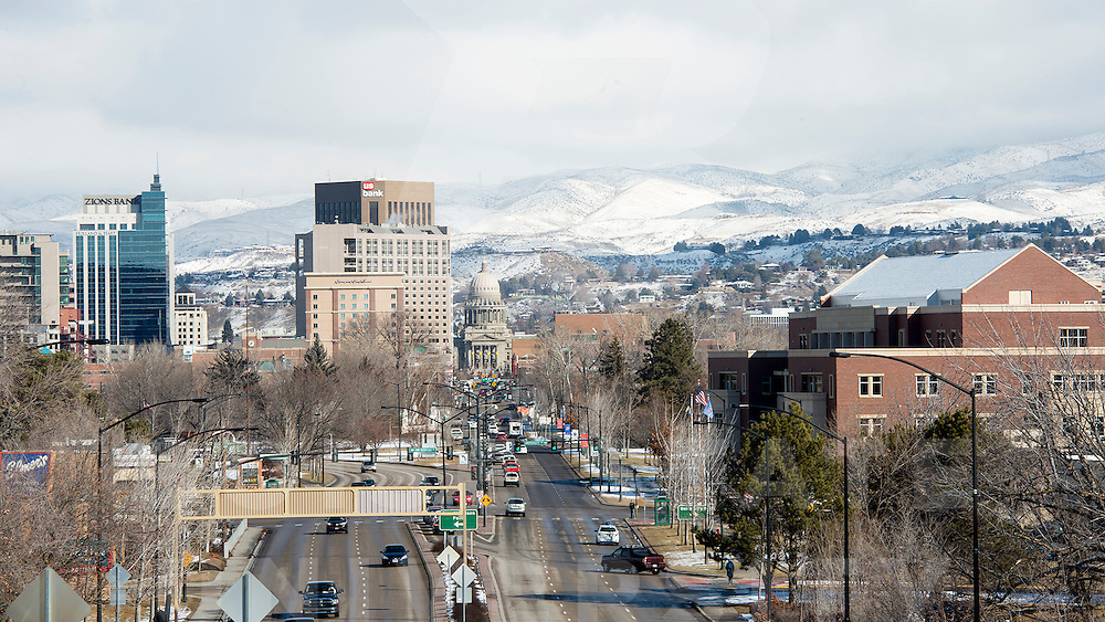Boise Cityscape, winter, John Kelly photo