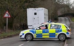 © Licensed to London News Pictures. 23-0102012, Tardebigge, Redditch, Worcs, UK. Various prison vehicles entering and leaving the lanes around Tardebigge where a prisoner escaped earlier today. Photo credit : Dave Warren/LNP