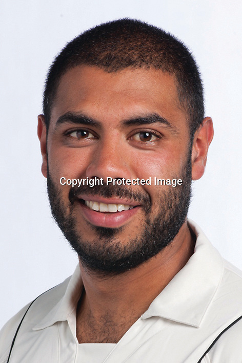 Jeetan Patel, New Zealand Black Caps cricket headshots. 2011/12 season. Photo: NZ Cricket