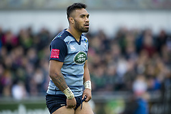 September 23, 2017 - Galway, Ireland - Willis Halaholo of Cardiff during the Guinness PRO14 Conference A match between Connacht Rugby and Cardiff Blues at the Sportsground in Galway, Ireland on September 23, 2017  (Credit Image: © Andrew Surma/NurPhoto via ZUMA Press)