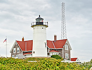 Nobska Lighthouse on Cape Cod at Woods Hole.Massachusetts.