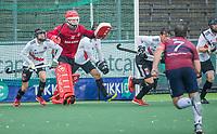 AMSTELVEEN - keeper Philip van Leeuwen (Adam) tijdens de hoofdklasse competitiewedstrijd mannen, Amsterdam-HCKC (1-0).  COPYRIGHT KOEN SUYK
