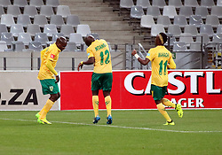 Golden Arrows players Kudakwashe Mahachi and Vusi Ntanga in the match between Ajax Cape Town and Golden Arrows at the Cape Town Stadium on Saturday, August 19, 2017.