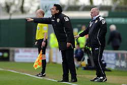 Notts County Manager Ricardo Moniz - Photo mandatory by-line: Harry Trump/JMP - Mobile: 07966 386802 - 11/04/15 - SPORT - FOOTBALL - Sky Bet League One - Yeovil Town v Notts County - Huish Park, Yeovil, England.
