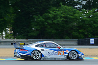 Christian Ried (DUE) / Wolf Henzler (DUE) / Joel Camathias (CHE) #78 KCMG Porsche 911 RSR,  during Le Mans 24 Hr June 2016 at Circuit de la Sarthe, Le Mans, Pays de la Loire, France. June 15 2016. World Copyright Peter Taylor/PSP. Copy of publication required for printed pictures.  Every used picture is fee-liable. http://archive.petertaylor-photographic.co.uk