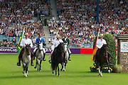 Openings ceremonie met Rodrigo Pessoa - Alvaro de Miranda<br /> World Equestrian Festival, CHIO Aachen 2012<br /> © DigiShots
