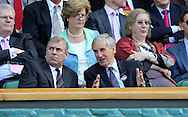 Wimbledon 2010,Sport, Tennis, ITF Grand Slam Tournament,  Prince Edward und AELTC Club Chairman Tim Philipps in der Royal Box,.Foto: Juergen Hasenkopf..