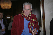 Paul Blezard, Charles Finch and Weidenfeld and Nicolson host a party to celebrate the publication of 'Dancing Into Battle' by Nick Foulkes. The Westbury Hotel, Conduit St. London. 14 December 2006. ONE TIME USE ONLY - DO NOT ARCHIVE  © Copyright Photograph by Dafydd Jones 248 CLAPHAM PARK RD. LONDON SW90PZ.  Tel 020 7733 0108 www.dafjones.com